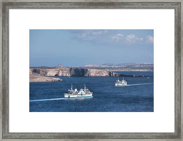 Gozo Ferries - Malta Framed Print