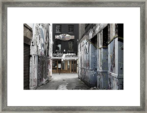 Graff Street Framed Print by Jez C Self