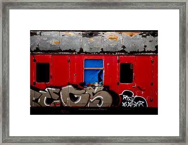 Graff Train Framed Print by Jez C Self
