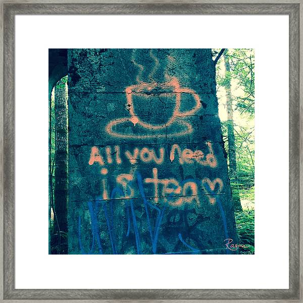 Graffitea Time Framed Print
