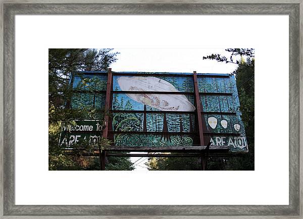 Graffiti 5 Framed Print by Holly Ethan