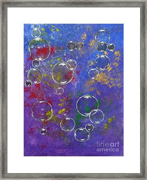 Graffiti Bubbles Framed Print