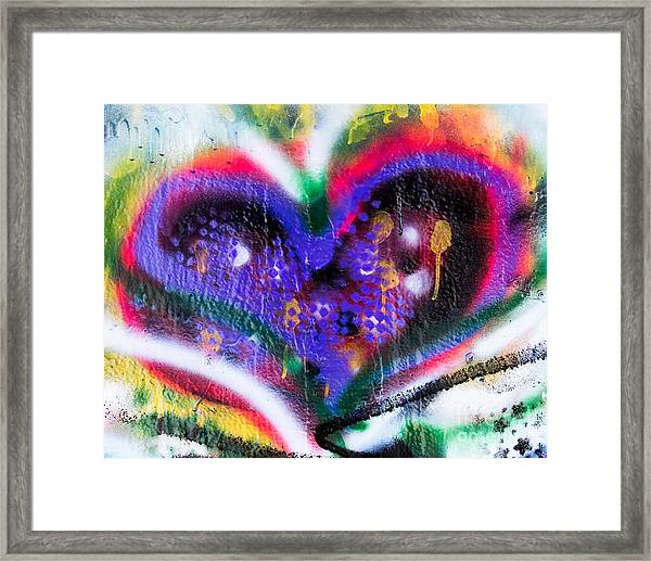Graffiti Heart Framed Print