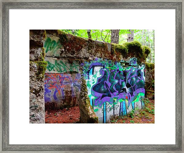 Graffiti Illusion Framed Print