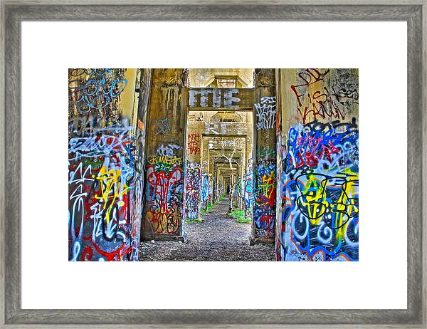 Grafiti Bridge To Nowhere Framed Print