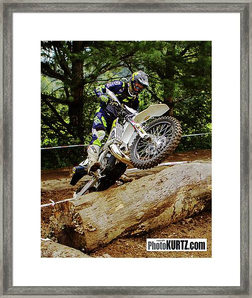 Graham Jarvis At 2017 Kenda Tennessee Knockout Enduro Framed Print