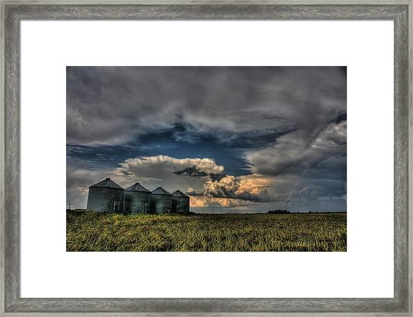 Grain Bins Framed Print