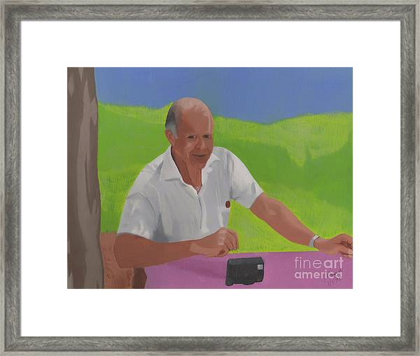Grampa Wiegand Framed Print