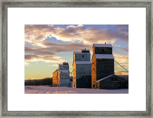 Granary Row Framed Print