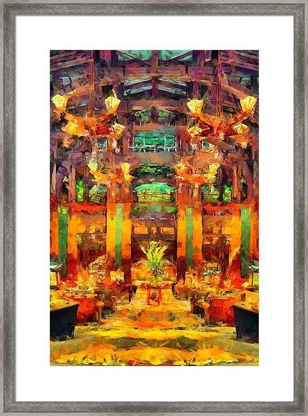 Grand Californian Resort Lobby Framed Print