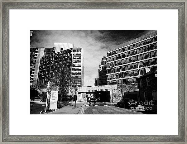 grand canal plaza with google docks montevetro and gasworks buildings Dublin Republic of Ireland Framed Print by Joe Fox