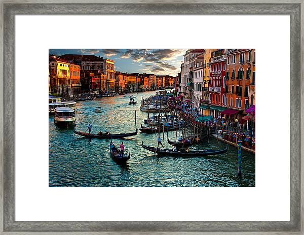 Grand Canal Sunset Framed Print
