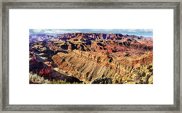 Grand Canyon Afternoon At Lipan Point Framed Print