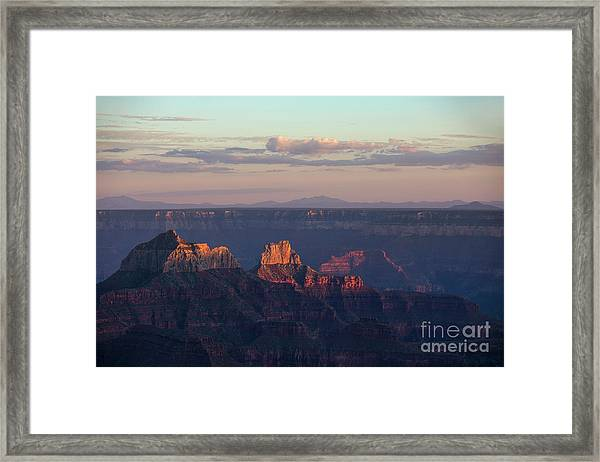 Grand Canyon At Sunset Framed Print