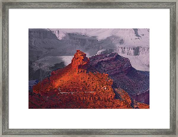 Grand Canyon In Red And Blue Framed Print