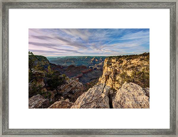 Grand Canyon National Park Spring Sunset Framed Print