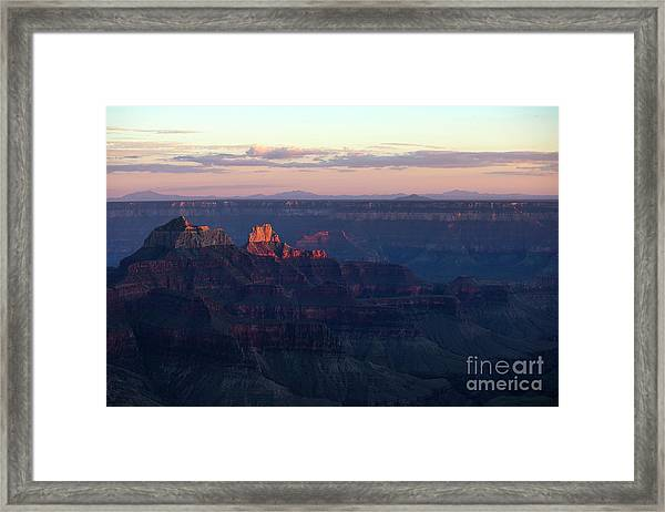 Grand Canyon North Rim At Sunset Framed Print