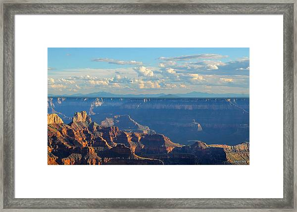 Grand Canyon North Rim Sunset San Francisco Peaks Framed Print