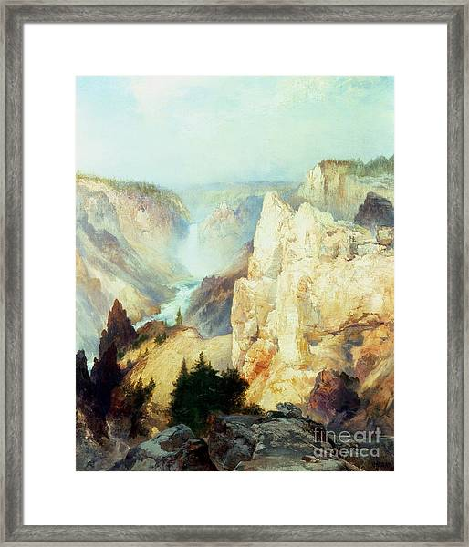 Grand Canyon Of The Yellowstone Park Framed Print