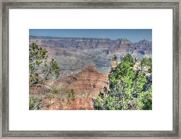 Framed Print featuring the photograph Grand Canyon Overlook by David Armstrong