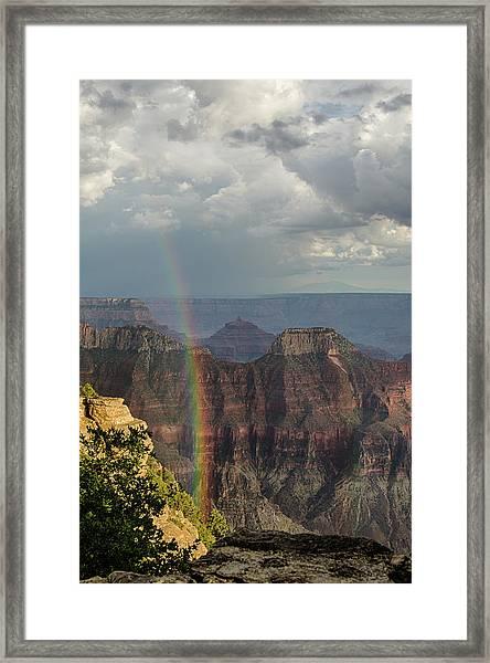 Grand Canyon Rainbow Framed Print