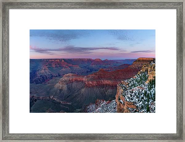 Grand Canyon - South Rim Twilight Framed Print