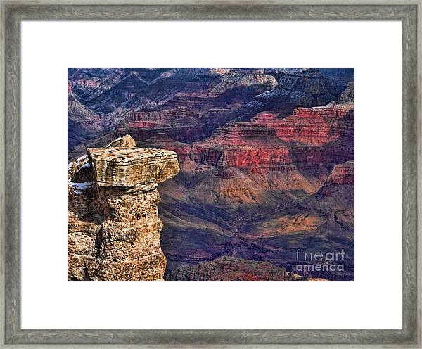 Grand Canyon Stacked Rock Framed Print