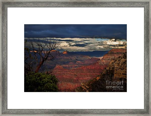 Grand Canyon Storm Clouds Framed Print