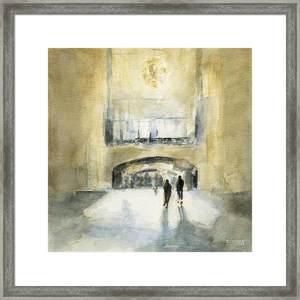 Grand Central Terminal Light Framed Print by Beverly Brown