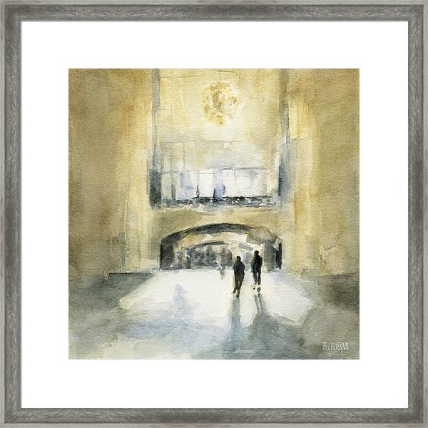 Grand Central Terminal Light Framed Print
