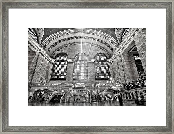 Framed Print featuring the photograph Grand Central Terminal Station by Susan Candelario