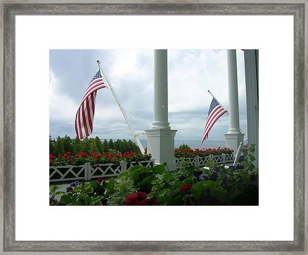Grand Hotel Flags Framed Print