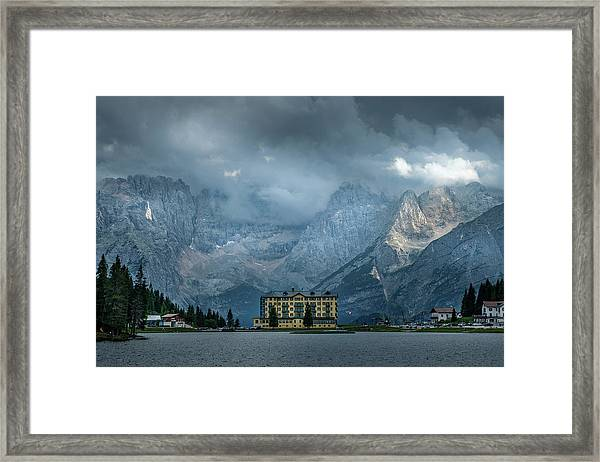 Grand Hotel Misurina Framed Print