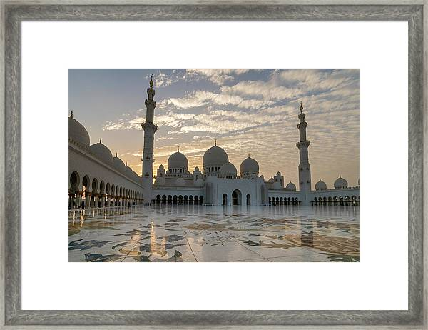 Grand Mosque Sunset Framed Print