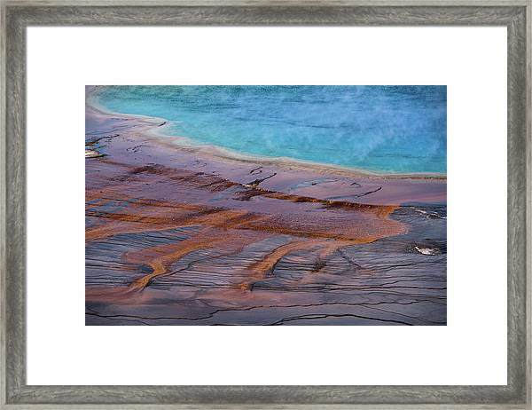 Grand Prismatic Spring Detail Framed Print