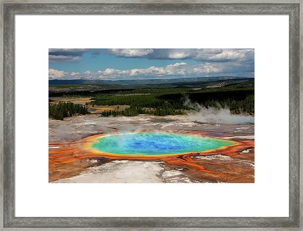 Grand Prismatic Springs Framed Print