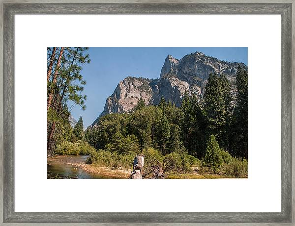 Grand Sentinel Zumalt Meadow Kings Canyon National Park Framed Print