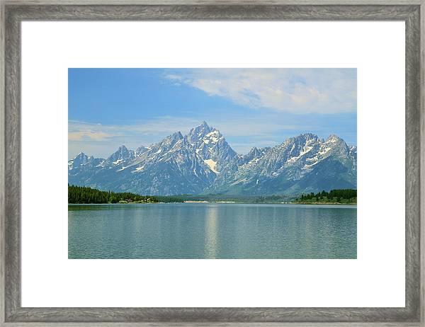 Grand Teton Over Jackson Lake Framed Print