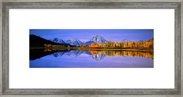 Grand Tetons And Reflection In Grand Framed Print