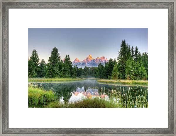 Grand Tetons Sunrise 2 Framed Print