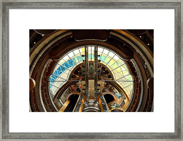 Grandeur Of The Seas Gold Centrum Framed Print