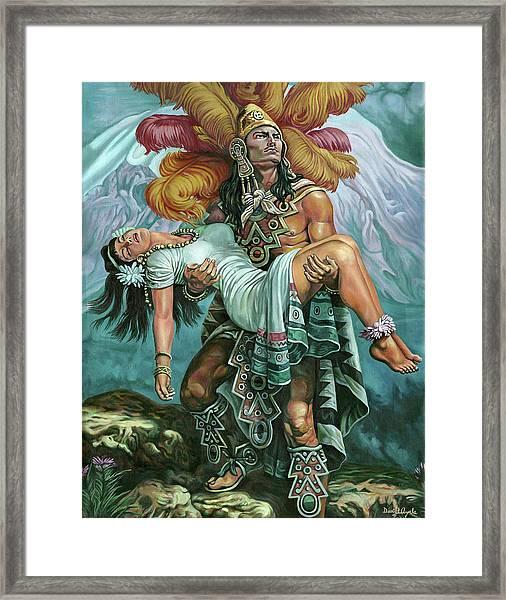 Grandeza Azteca Framed Print