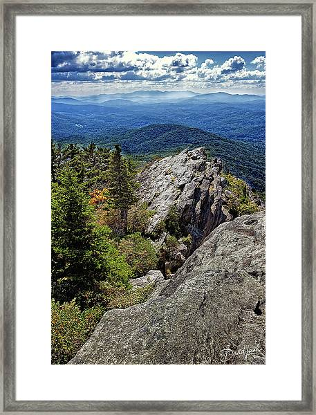 Framed Print featuring the photograph Grandfather Mountain Splendor by David A Lane
