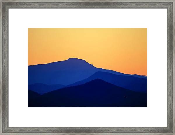 Grandfather Sunset Framed Print