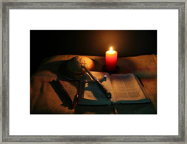 Grandfathers Bible Framed Print