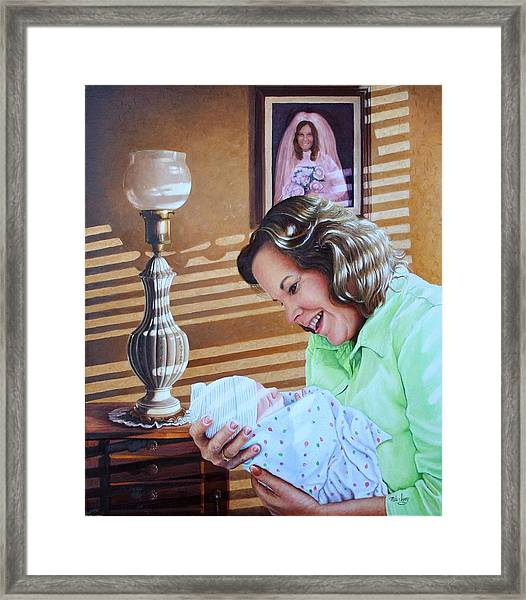 Grandma And Granddaughter Framed Print