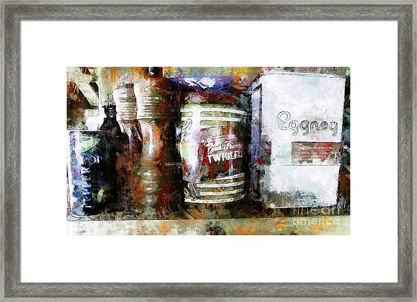 Grandma's Kitchen Tins Framed Print