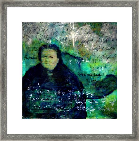 Grandmother Maggie-study Framed Print