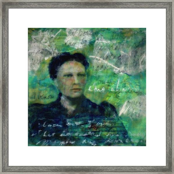 Grandmother Primmie-study Framed Print