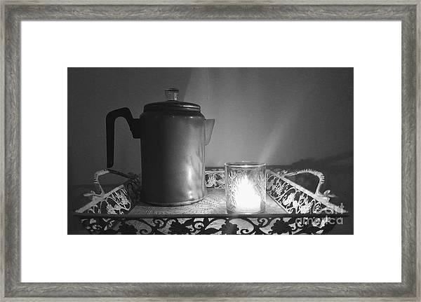 Grandmothers Vintage Coffee Pot Framed Print